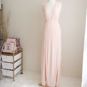 Missguided blush pink maxi dress
